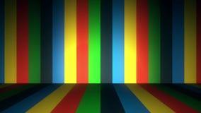 Líneas de color Altos fondos del movimiento del cgi de la definición Líneas coloreadas verticales almacen de video