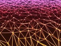 Líneas de color claro interconectadas Foto de archivo libre de regalías