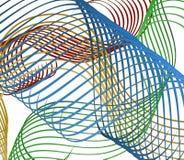 Líneas de colores Imagen de archivo libre de regalías