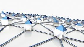 Líneas de comunicación - conexiones de red Imagen de archivo libre de regalías