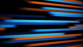 Líneas de Digitaces anaranjadas azules fondo del movimiento del extracto del lazo de VJ