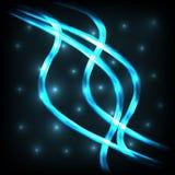 Líneas de iluminación con el fondo negro Imagen de archivo libre de regalías