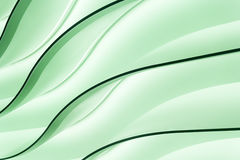 Líneas de iluminación verdes Imagen de archivo libre de regalías
