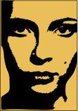 Líneas de la cara Imagen de archivo libre de regalías
