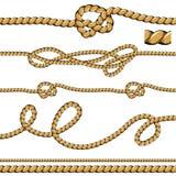 Líneas de la cuerda del cepillo stock de ilustración