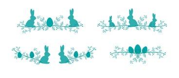 Líneas de la decoración de Pascua Foto de archivo libre de regalías