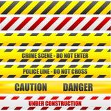 Líneas de la precaución Imagen de archivo libre de regalías