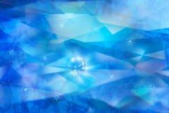 Líneas de la refracción del corte del diamante Fotografía de archivo