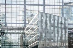 Líneas de la travesía al distrito financiero de la defensa Imagen de archivo