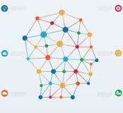 Líneas de las conexiones de red. stock de ilustración