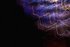 Líneas de luces abstractas en el movimiento Fotografía de archivo libre de regalías