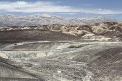 Líneas de Nazca y desierto peruano imagen de archivo libre de regalías