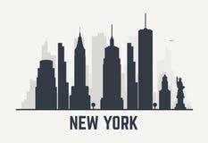 Líneas de New York City stock de ilustración