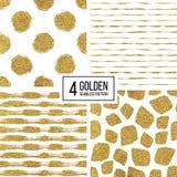 Líneas de oro de la textura inconsútil, círculo, punto, movimiento Fotografía de archivo libre de regalías