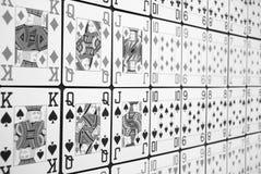 Líneas de Pokercards Foto de archivo