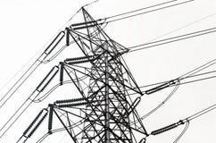 Líneas de transmisión de poder Foto de archivo