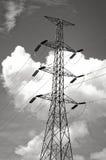 Líneas de transmisión de poder imagen de archivo