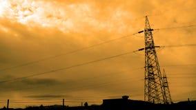 Líneas de transmisión de poder Imagen de archivo libre de regalías