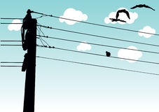 líneas de transmisión de potencia   ilustración del vector