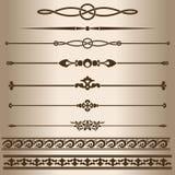 líneas decorativas Imágenes de archivo libres de regalías