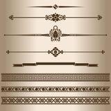 líneas decorativas Foto de archivo libre de regalías