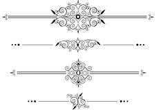 Líneas decorativas de la regla Imagen de archivo libre de regalías