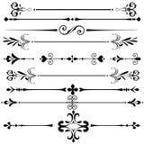 Líneas decorativas de la regla del ornamento del vintage Imágenes de archivo libres de regalías
