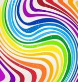 Líneas del arco iris del vector Imagen de archivo libre de regalías