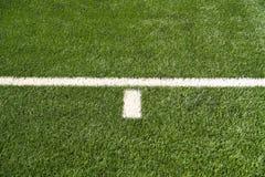 Líneas del campo de fútbol Imágenes de archivo libres de regalías