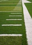 Líneas del campo de fútbol Imagen de archivo libre de regalías