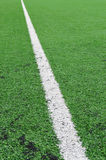 Líneas del campo de fútbol Foto de archivo libre de regalías