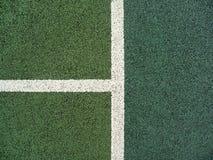 Líneas del campo de tenis Fotos de archivo libres de regalías