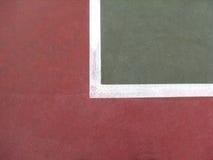 Líneas del campo de tenis Imágenes de archivo libres de regalías