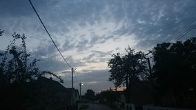 Líneas del cielo Foto de archivo libre de regalías