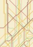 Líneas del circuito eléctrico Fotografía de archivo libre de regalías
