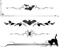 Líneas del divisor del Critter de Víspera de Todos los Santos Imagenes de archivo