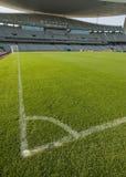 Líneas del estadio y del fútbol Fotografía de archivo libre de regalías