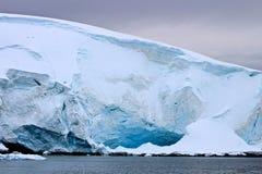 Líneas del glaciar Foto de archivo libre de regalías