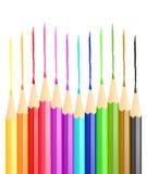 Líneas del lápiz Imágenes de archivo libres de regalías