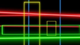 Líneas del laser de la animación que se mueven irregularmente metrajes