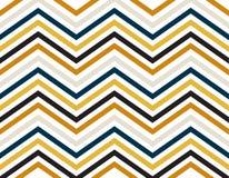 Líneas del zigzag de color del azul, del oro, gris y negro en el fondo blanco fotografía de archivo