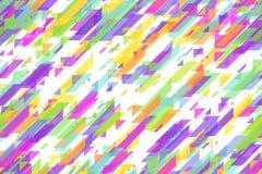 Líneas diagonales azules brillantes inconsútiles, triángulos y modelo celebrador de los bloques de la diagonal Fotografía de archivo