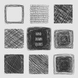 Líneas dibujadas mano texturas Foto de archivo libre de regalías