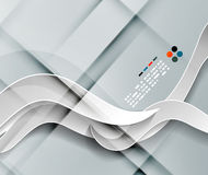 Líneas diseño de la onda del papel del vector 3d Fotografía de archivo