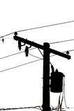 Líneas eléctricas Imagen de archivo libre de regalías