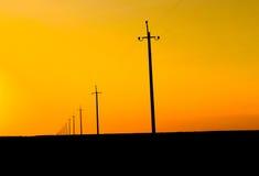 Líneas eléctricas Fotografía de archivo