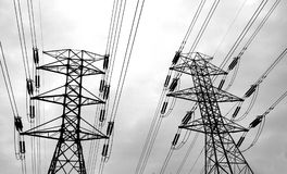 Líneas eléctricas Fotografía de archivo libre de regalías