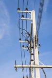 Líneas eléctricas foto de archivo