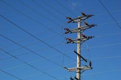 Líneas eléctricas Fotos de archivo libres de regalías