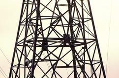 Líneas eléctricas Imágenes de archivo libres de regalías